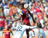 Mar 22, 2014 - MLS: Los Angeles Galaxy vs Real Salt Lake - Olmes Garcia, Leonardo Photo by Russell Isabella