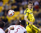 Apr 26, 2014 - MLS: New York Red Bulls vs Columbus Crew - Adam Bedell, Armando Photo by Rick Osentoski