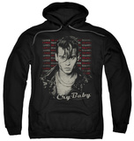 Hoodie: Cry Baby - Drapes & Squares Pullover Hoodie