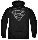 Hoodie: Superman - Urban Camo Shield Pullover Hoodie