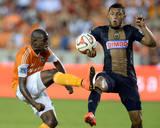 Aug 15, 2014 - MLS: Philadelphia Union vs Houston Dynamo - Boniek Garcia, Carlos Valdes Photo by John David Mercer
