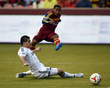 Apr 26, 2014 - MLS: Vancouver Whitecaps vs Real Salt Lake - Joao Plata, Johnny Leverón Photo by Kelvin Kuo