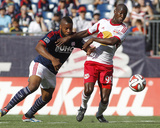 Jun 8, 2014 - MLS: NY Red Bulls vs New England Revolution - Bradley Wright-Phillips, Andrew Farrell Photo by Stew Milne