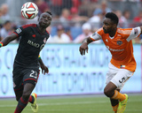 Jul 12, 2014 - MLS: Houston Dynamo vs Toronto FC - Warren Creavalle, Dominic Oduro Photo by Tom Szczerbowski