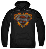Hoodie: Superman - Iron Fire Shield Pullover Hoodie