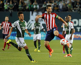 Apr 12, 2014 - MLS: Chivas USA vs Portland Timbers - Maximiliano Urruti, Carlos Bocanegra Photo by Steve Dykes