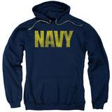 Hoodie: Navy - Logo Pullover Hoodie