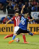 Jul 2, 2014 - MLS: Chivas USA vs San Jose Earthquakes - Erick Torres, Brandon Barklage Photo by Kelley L Cox