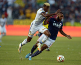 Jul 16, 2014 - MLS: New England Revolution vs Los Angeles Galaxy - Gyasi Zardes, Andrew Farrell Photo by Kirby Lee