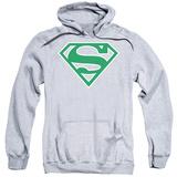 Hoodie: Superman - Green & White Shield Pullover Hoodie