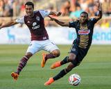 Jul 12, 2014 - MLS: Colorado Rapids vs Philadelphia Union - Kamani Hill, Raymon Gaddis Photo by John Geliebter