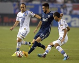 Aug 23, 2014 - MLS: Vancouver Whitecaps vs Los Angeles Galaxy - Pedro Morales, Landon Donovan Photo by Kelvin Kuo