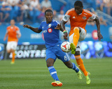 Jun 29, 2014 - MLS: Houston Dynamo vs Montreal Impact - Patrice Bernier, Kofi Sarkodie Photo by Jean-Yves Ahern