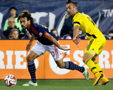 2014 MLS Playoffs: Nov 9, Columbus Crew vs New England Revolution - Justin Meram, Kevin Alston Photo by Winslow Townson