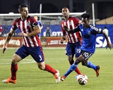 Apr 26, 2014 - MLS: Chivas USA vs San Jose Earthquakes - Yannick Djalo, Carlos Bocanegra Photo by Robert Stanton