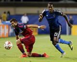 Jul 23, 2014 - MLS: Chicago Fire vs San Jose Earthquakes - Atiba Harris, Gonzalo Segares Photo by Kelley L Cox
