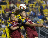 Jun 4, 2014 - MLS: Real Salt Lake vs Columbus Crew - Eric Gehrig, Carlos Salcedo Photo by Greg Bartram