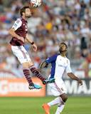 Aug 2, 2014 - MLS: Real Salt Lake vs Colorado Rapids - Robbie Findley, Drew Moor Photo by Ron Chenoy