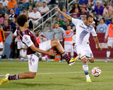 Aug 20, 2014 - MLS: Los Angeles Galaxy vs Colorado Rapids - Landon Donovan, Chris Klute Photo by Isaiah J. Downing