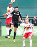 2014 MLS Playoffs: Nov 8, New York Red Bulls vs D.C. United - Fabian Espindola, Jamison Olave Photo by Geoff Burke