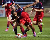 Sep 20, 2014 - MLS: D.C. United vs Chicago Fire - Quincy Amarikwa, Perry Kitchen Photo by Mike Dinovo