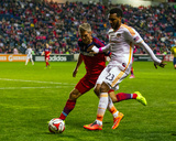 Oct 24, 2014 - MLS: Houston Dynamo vs Chicago Fire - Logan Pause, Giles Barnes Photo by Guy Rhodes