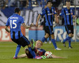Aug 16, 2014 - MLS: Chicago Fire vs Montreal Impact - Jeff Larentowicz, Andres Romero Photo by Eric Bolte