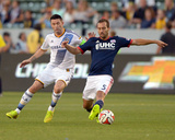 Jul 16, 2014 - MLS: New England Revolution vs Los Angeles Galaxy - Robbie Keane, A.J. Soares Photo by Kirby Lee