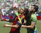May 31, 2014 - MLS: Real Salt Lake vs Seattle Sounders - Devon Sandoval, Zach Scott Photo by Joe Nicholson