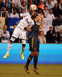 Apr 19, 2014 - MLS: Los Angeles Galaxy vs Vancouver Whitecaps - Darren Mattocks, Omar Gonzalez Photo by Anne-Marie Sorvin