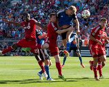 Jun 7, 2014 - MLS: San Jose Earthquakes vs Toronto FC - Steven Lenhart, Steven Caldwell Photo by Nick Turchiaro