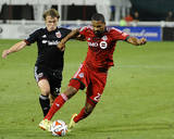 Jul 30, 2014 - MLS: Toronto FC vs D.C. United - Luke Moore, Sean Franklin Photo by Brad Mills