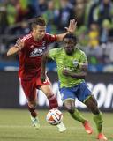 2014 MLS Playoffs: Nov 10, FC Dallas vs Seattle Sounders - Michel, Obafemi Martins Photo by Joe Nicholson