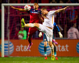 Oct 24, 2014 - MLS: Houston Dynamo vs Chicago Fire - Quincy Amarikwa, AJ Cochran Foto af Guy Rhodes