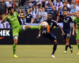 Jul 5, 2014 - MLS: Seattle Sounders vs Vancouver Whitecaps - Gershon Koffie Photo by Anne-Marie Sorvin