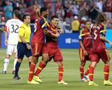 Aug 9, 2014 - MLS: D.C. United vs Real Salt Lake - Javier Morales, Chris Schuler Photo by Chris Nicoll