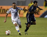 Aug 23, 2014 - MLS: Vancouver Whitecaps vs Los Angeles Galaxy - Landon Donovan, Steven Beitashour Photo by Kelvin Kuo