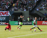 Aug 24, 2014 - MLS: Seattle Sounders vs Portland Timbers - Michael Harrington, Clint Dempsey Photo by Jaime Valdez