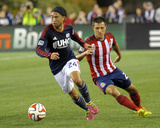 Aug 23, 2014 - MLS: Chivas USA vs New England Revolution - Lee Nguyen, Bobby Burling Photo by Bob DeChiara