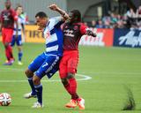 Jun 11, 2014 - MLS: FC Dallas vs Portland Timbers - Diego Chara, Blas Perez Photo by Steve Dykes