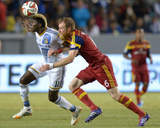 Jul 12, 2014 - MLS: Real Salt Lake vs Los Angeles Galaxy - Gyasi Zardes, Nat Borchers Photo by Kirby Lee