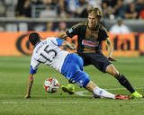 Aug 9, 2014 - MLS: Montreal Impact vs Philadelphia Union - Brian Carroll, Andres Romero Photo by John Geliebter