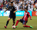 Jul 12, 2014 - MLS: Chivas USA vs Vancouver Whitecaps - Erick Torres, Johnny Leveron Photo by Anne-Marie Sorvin