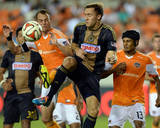 Aug 15, 2014 - MLS: Philadelphia Union vs Houston Dynamo - Brad Davis, Andrew Wenger Photo by John David Mercer