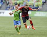 Jul 13, 2014 - MLS: Portland Timbers vs Seattle Sounders - Chad Barrett, Michael Harrington Photo by Steven Bisig