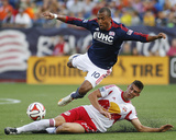 Jun 8, 2014 - MLS: New York Red Bulls vs New England Revolution - Teal Bunbury, Matt Miazga Photo by Stew Milne