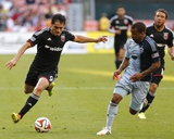 May 31, 2014 - MLS: Sporting KC vs D.C. United - Fabian Espindola, Kevin Ellis Photo by Geoff Burke