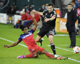 Oct 18, 2014 - MLS: Chicago Fire vs D.C. United - Lovel Palmer, Chris Pontius Foto af Brad Mills