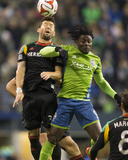 2014 MLS Western Conference Championship: Nov 30, Galaxy vs Sounders - Obafemi Martins, Dan Gargan Photo by Joe Nicholson