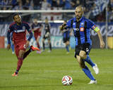Aug 16, 2014 - MLS: Chicago Fire vs Montreal Impact - Grant Ward, Marco Di Vaio Photo by Eric Bolte